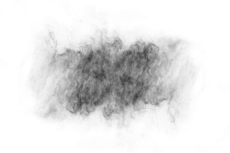 Textured Smoke,Abstract black,isolated on white background