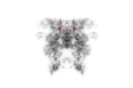 abstract smoke: Textured Smoke,Abstract black,isolated on white background