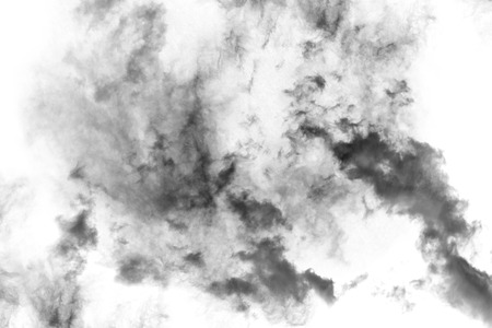 paranormal: Textured Smoke,Abstract black,isolated on white background