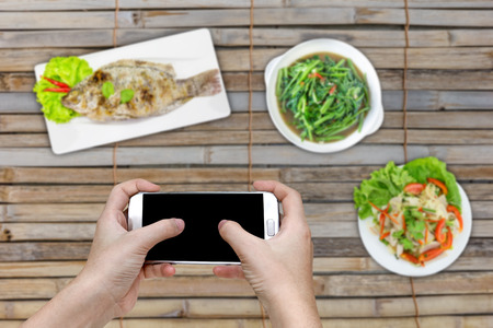 food photography: Food photography on dining table