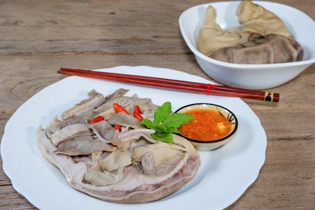 Pork stomach sliced soup Stock Photo