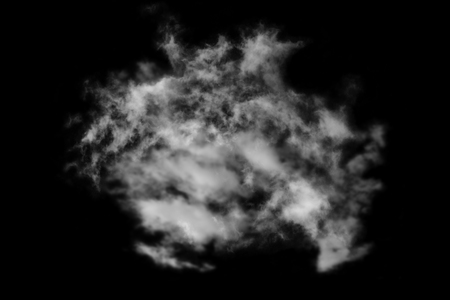 black textured background: Textured cloud,isolated on black background Stock Photo