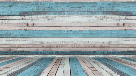 old wood floor: old wall and floor wood background Stock Photo
