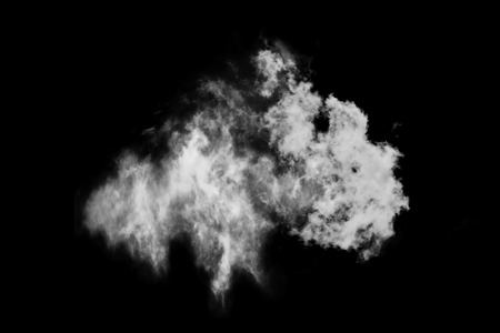 Textured cloud,Abstract black,isolated on black background Stock Photo