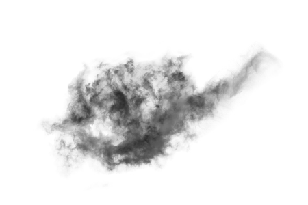 auras: Textured Smoke,Abstract black,isolated on white background
