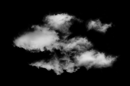 auras: Textured cloud,Abstract black,isolated on black background Stock Photo