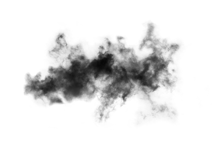 auras: Cloud isolated on white background,Textured Smoke,Brush clouds,Abstract black Stock Photo