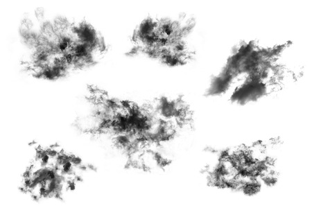 paranormal: set cloud isolated on white background,Textured Smoke,Brush clouds,Abstract black
