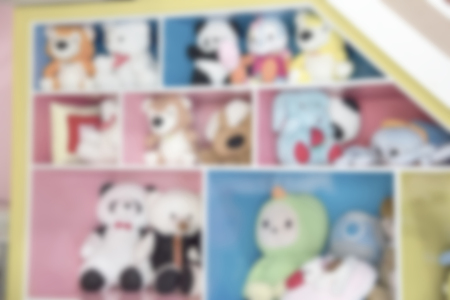 dolls on sale for tourists blur background of Illustration,Abstract Blurred  Stock Photo