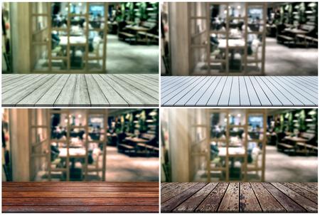 white wine: Set top desk with blur restaurant background  Stock Photo