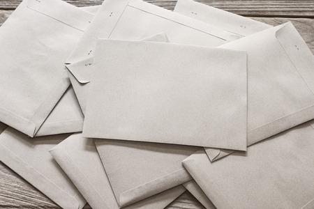 Brown Letter Envelop on wooden table