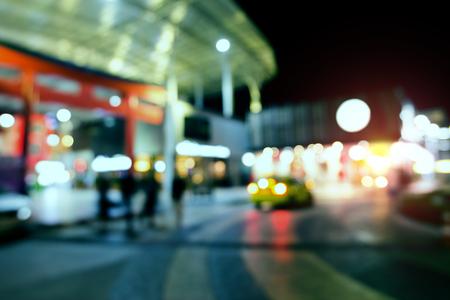 Abstract circular blur bokeh of car in urban