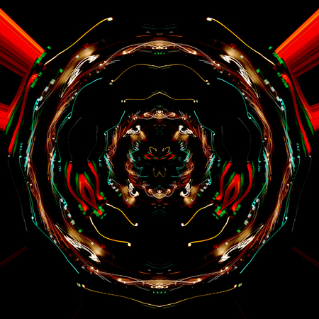 Night light line,seamless light pattern,abstract background Фото со стока
