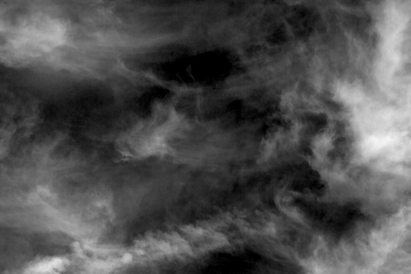 paranormal: Textured cloud,Abstract black,isolated on black background Stock Photo