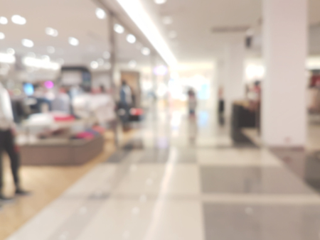 city background: shopping mall blur background
