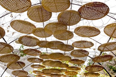Threshing basket decorated for sunshade