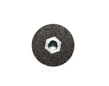 Black Abrasive wheels isolated on a white background