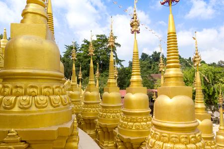 golden pagoda at watpasawangboon temple, Saraburi province,Thailand
