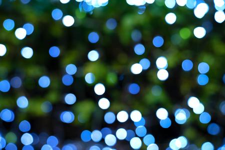 bokeh lights of Christmas lights and New year Stock Photo