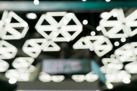 White bokeh background,  fluorescent lights