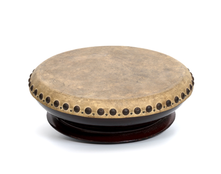 drum musical instrument thai or one-sided drum with shallow body,isolated on white background
