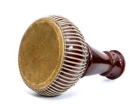 ドラム楽器タイまたはトーン、白い背景に隔離 写真素材