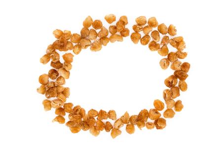 dried longan fruit isolated on white background