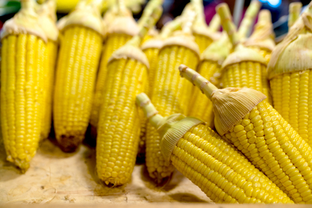 closeup corn in the shop