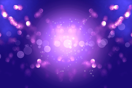 Colorful pink blue bokeh background of Christmas lights and New year Stock Photo