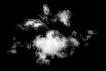 clouds isolated on black background,Abstract white,Textured Smoke Stock Photo