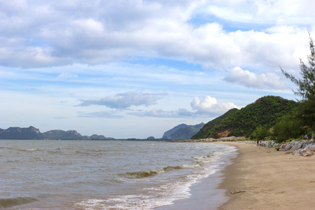Beach and sea are quiet in Thailand