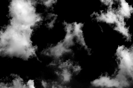 Textured cloud,Abstract white,isolated on black background Stock Photo