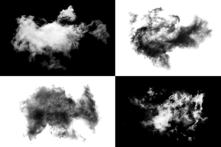 Cloud Isolated on white background,Smoke Textured,Abstract black