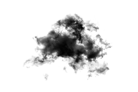 Cloud Isolated on white background,Smoke Textured,Abstract black,brush effect