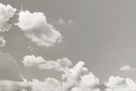 White cloud with grey sky texture background
