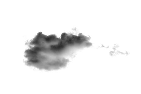 white cloud Isolated on white background,Smoke Textured,brush effect Stock Photo