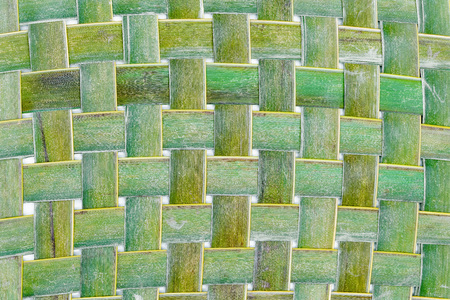 Green leaves pattern,Weaving coconut leaf texture Stock fotó