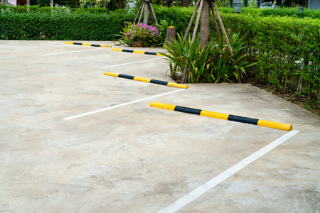Lines parking on concrete background
