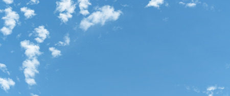 Panorama white cloud and blue sky background with copy space 版權商用圖片
