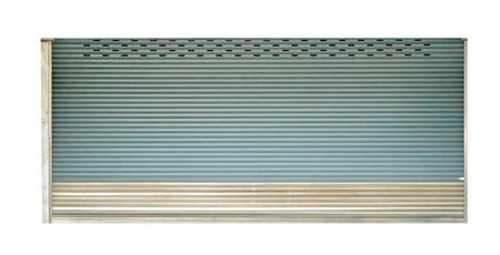 Roller shutter door for garage isolated on white background,clipping path