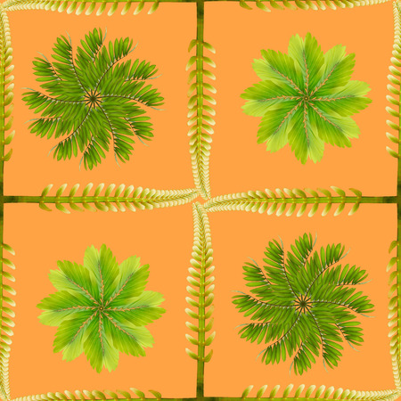 tropical exotic plant leaf,seamless background for textile and fabric design