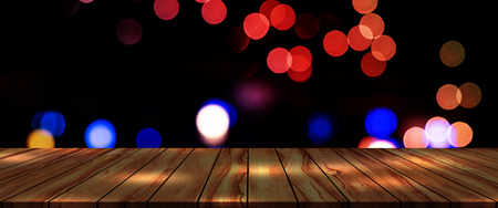 top desk with bokeh blur background,Christmas and Happy New Year