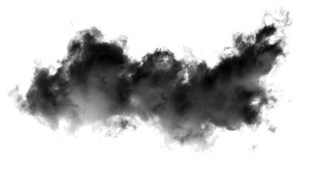 white cloud Isolated on white background,Smoke Textured,brush effect Stock Photo