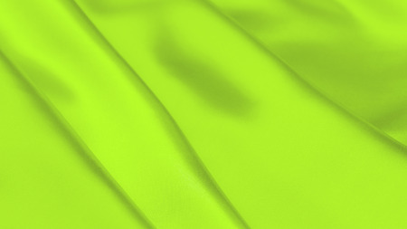 UFO green satin fabric texture soft background Stock Photo