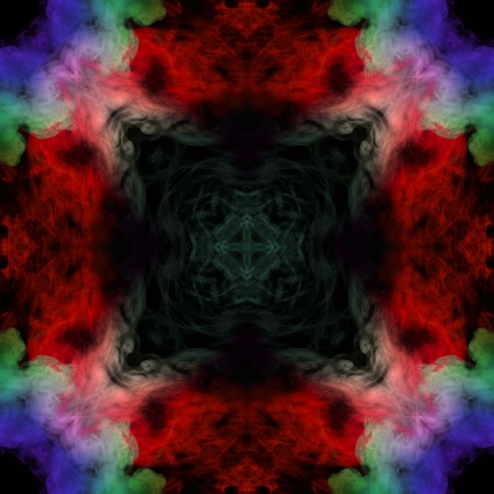 Abstract colorful smoke isolated on black background,Rainbow powder,seamless light pattern