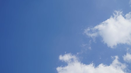 White cloud and blue sky background with copy space Stock Photo - 118542731