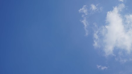 White cloud and blue sky background with copy space Stock Photo - 118542738