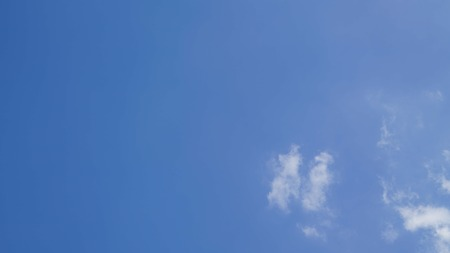 White cloud and blue sky background with copy space Stock Photo - 118542736