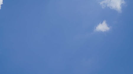 White cloud and blue sky background with copy space Stock Photo - 118542740