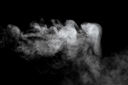 Abstract powder or smoke effect isolated on black background